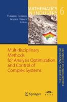 Multidisciplinary Methods for Analysis Optimization and Control of Complex Systems için kapak resmi