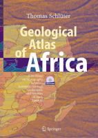 Geological Atlas of Africa With Notes on Stratigraphy, Tectonics, Economic Geology, Geohazards and Geosites of Each Country için kapak resmi