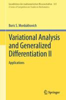 Variational Analysis and Generalized Differentiation II Applications için kapak resmi