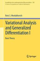 Variational Analysis and Generalized Differentiation I Basic Theory için kapak resmi