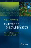 Particle Metaphysics A Critical Account of Subatomic Reality için kapak resmi