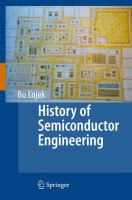 History of Semiconductor Engineering için kapak resmi