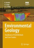 Environmental Geology Handbook of Field Methods and Case Studies için kapak resmi