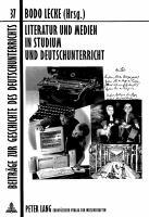 Literatur und Medien in Studium und Deutschunterricht için kapak resmi