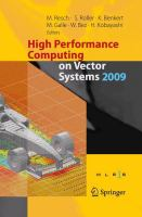 High Performance Computing on Vector Systems 2009 için kapak resmi