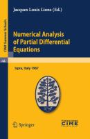 Numerical Analysis of Partial Differential Equations için kapak resmi