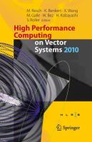 High Performance Computing on Vector Systems 2010 için kapak resmi