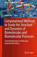 Computational Methods to Study the Structure and Dynamics of Biomolecules and Biomolecular Processes From Bioinformatics to Molecular Quantum Mechanics için kapak resmi