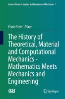 The History of Theoretical, Material and Computational Mechanics - Mathematics Meets Mechanics and Engineering için kapak resmi