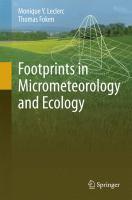 Footprints in Micrometeorology and Ecology için kapak resmi
