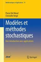 Modèles et méthodes stochastiques Une introduction avec applications için kapak resmi