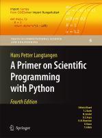 A Primer on Scientific Programming with Python için kapak resmi