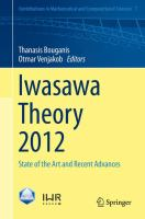 Iwasawa Theory 2012 State of the Art and Recent Advances için kapak resmi