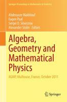 Algebra, Geometry and Mathematical Physics AGMP, Mulhouse, France, October 2011 için kapak resmi