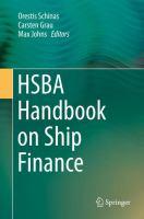 HSBA Handbook on Ship Finance için kapak resmi