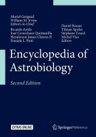 Encyclopedia of Astrobiology için kapak resmi