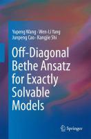 Off-Diagonal Bethe Ansatz for Exactly Solvable Models için kapak resmi