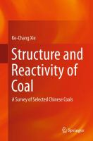 Structure and Reactivity of Coal A Survey of Selected Chinese Coals için kapak resmi