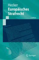 Europaisches Strafrecht için kapak resmi