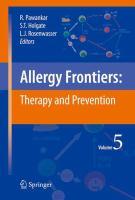 Allergy Frontiers: Therapy and Prevention için kapak resmi