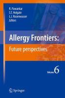 Allergy Frontiers: Future Perspectives için kapak resmi