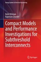 Compact Models and Performance Investigations for Subthreshold Interconnects için kapak resmi
