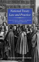 National treaty law and practice için kapak resmi