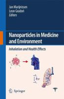 Nanoparticles in medicine and environment Inhalation and health effects için kapak resmi