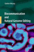 Biocommunication and Natural Genome Editing için kapak resmi