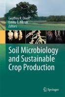 Soil Microbiology and Sustainable Crop Production için kapak resmi