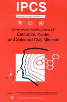 Bentonite, kaolin, and selected clay minerals için kapak resmi