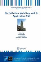 Air Pollution Modeling and its Application XXII için kapak resmi