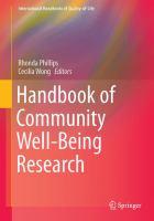 Handbook of Community Well-Being Research için kapak resmi