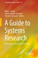 A Guide to Systems Research Philosophy, Processes and Practice için kapak resmi