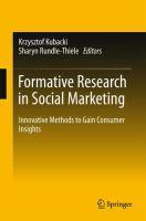Formative Research in Social Marketing Innovative Methods to Gain Consumer Insights için kapak resmi