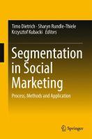Segmentation in Social Marketing Process, Methods and Application için kapak resmi