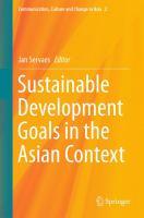 Sustainable Development Goals in the Asian Context için kapak resmi