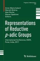 Representations of Reductive p-adic Groups için kapak resmi