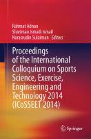 Proceedings of the International Colloquium on Sports Science, Exercise, Engineering and Technology 2014 (ICoSSEET 2014) için kapak resmi