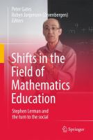 Shifts in the Field of Mathematics Education Stephen Lerman and the turn to the social için kapak resmi