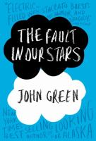 book jacket for the fault in our stars