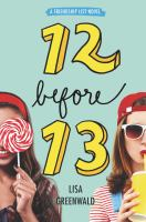 Cover image for 12 before 13 / Lisa Greenwald.