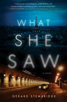 Cover image for What she saw : a novel / Gerard Stembridge.