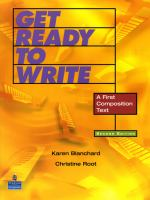 Cover image for Get ready to write : a beginning writing text / Karen Blanchard, Christine Root.