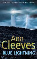 Cover image for Blue lightning / Ann Cleeves.