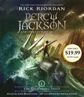 Cover image for The lightning thief [compact disc] / Rick Riordan.