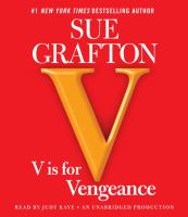 Cover image for V is for vengeance [compact disc] / Sue Grafton.