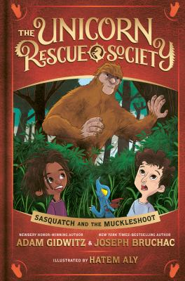 Cover image for Sasquatch and the Muckleshoot / by Adam Gidwitz & Joseph Bruchac ; illustrated by Hatem Aly.