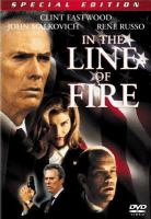Cover image for In the line of fire [DVD] / a Columbia Pictures and Castle Rock Entertainment presentation ; directed by Wolfgang Petersen ; written by Jeff Maguire ; produced by Jeff Apple ; executive producers, Wolfgang Petersen, Gail Katz, David Valdes ; an Apple/Rose production ; a Wolfgang Petersen film.