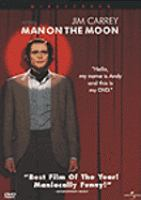 Cover image for Man on the moon [DVD] / Universal Pictures and Mutual Film Company present a Jersey Films/Cinehaus production in association with Shapiro/West Productions ; produced by Danny DeVito, Michael Shamberg, Stacey Sher ; directed by Milos Forman ; written by Scott Alexander & Larry Karaszewski.